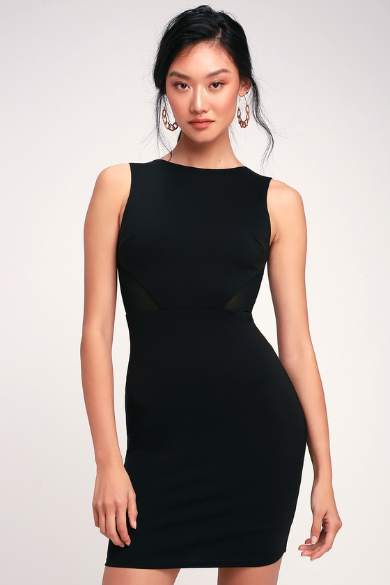 36fd635076c Sexy Black Dress - Mesh Cutout Dress - Black Bodycon Dress - LBD