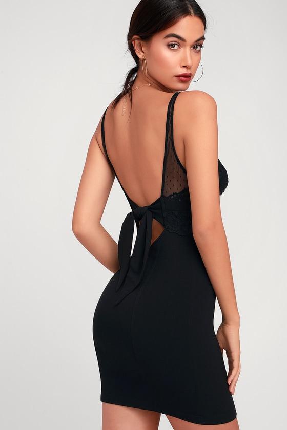 8734103d7800 FREE PEOPLE. Kira Black Lace Bodycon Slip Dress