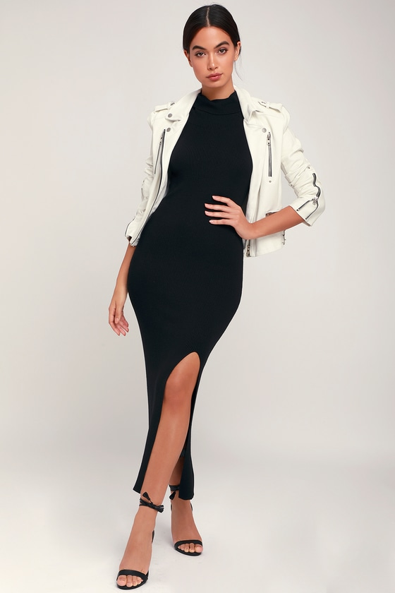 79d7b24e471 Classic Black Dress - Sweater Dress - Sleeveless Midi Dress