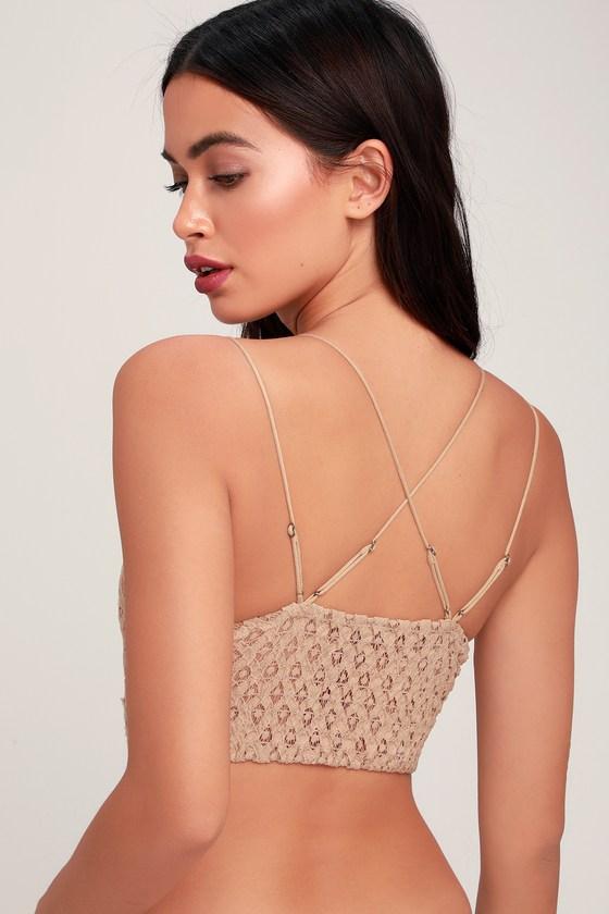 0b029f46320 Free People Adella - Nude Bra - Crochet Lace Bralette