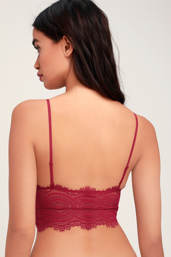 266d4cb826 Free People Belle - Berry Red Lace Brami - Bra Top - Bralette