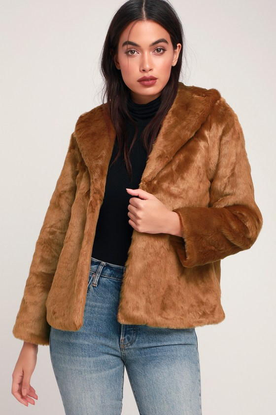 Fur Ever Mine Brown Faux Fur Coat - Lulus