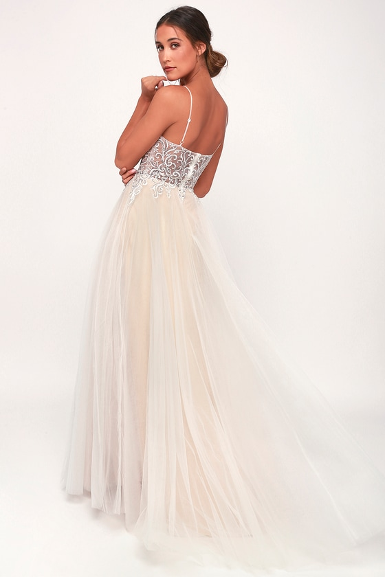 84d8af547b Stunning Dress - Tulle Dress - Bridal Dress - White Maxi Dress