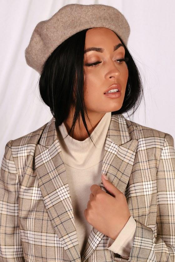 magasiner pour les plus récents vente usa en ligne prix abordable Audrey Heather Beige Wool Beret