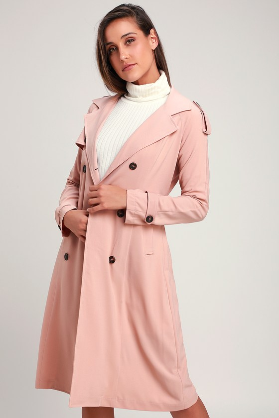 d620120fde Cute Blush Pink Coat - Trench Coat - Blush Pink Trench Coat