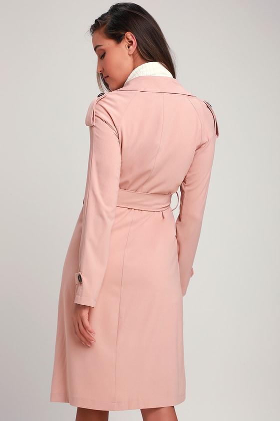 Cute Blush Pink Coat - Trench Coat - Blush Pink Trench Coat 02da821b9