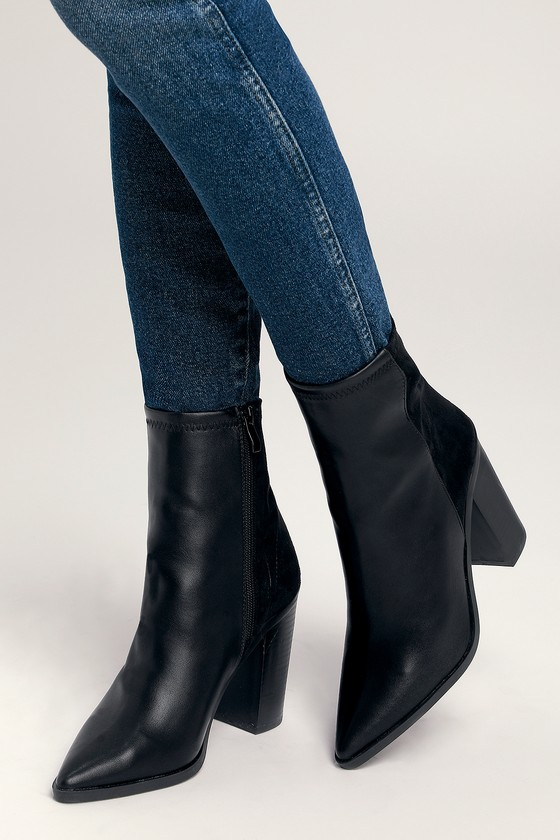 6792d91ae306 Chic Black Boots - Vegan Boots - Mid-Calf Booties