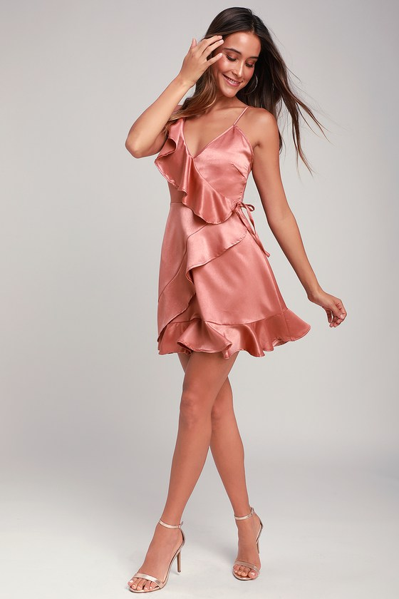 Jack by BB Dakota Limelight Dress - Ruffled Dress - Pink Dress 109463a48