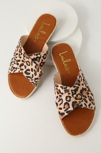 69547fcbc079b Koren Leopard Espadrille Slide Sandals