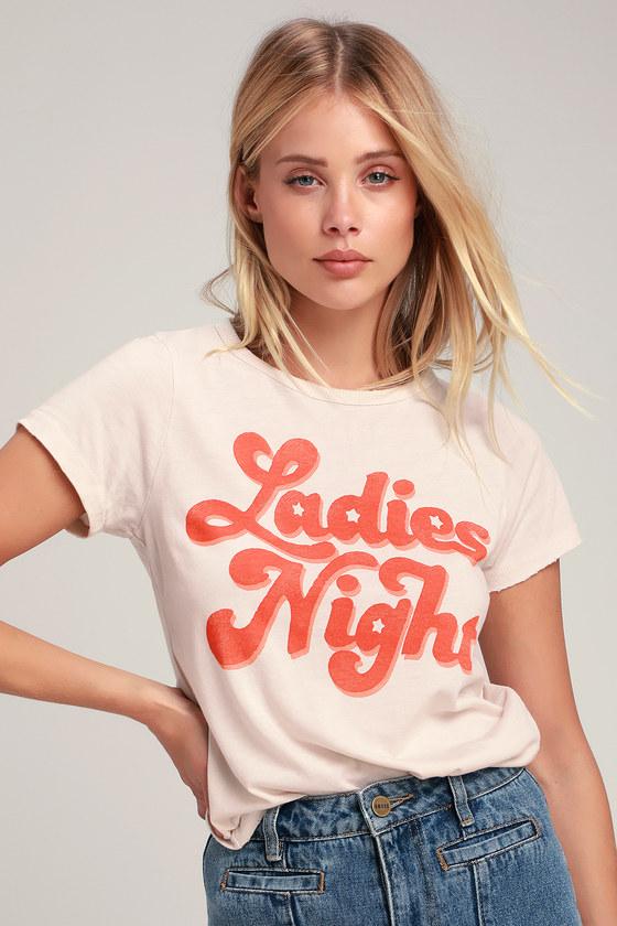 Women's 70s Shirts, Blouses, Hippie Tops Ladies Night Pale Nude Tee - Lulus $40.00 AT vintagedancer.com