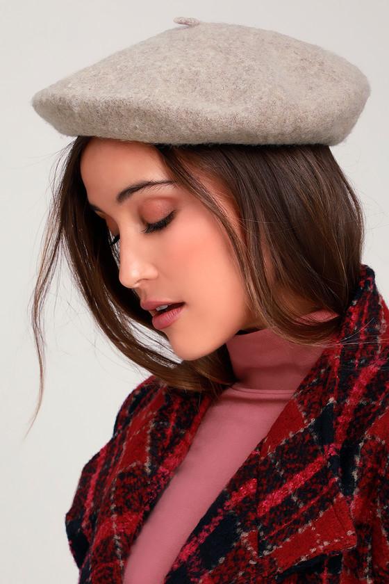 8f61d75ac0c38 Brixton Audrey Beret - Beige Beret - Wool Beret
