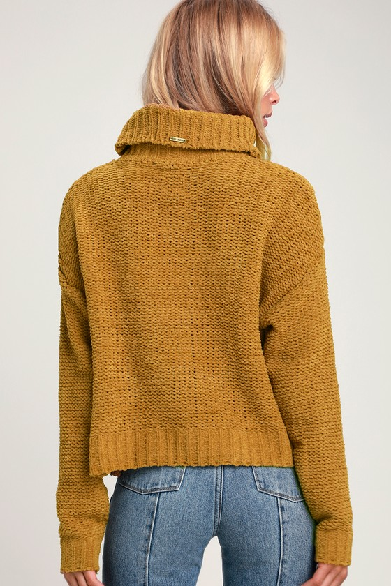 7e62b318af Billabong On a Roll - Mustard Yellow Sweater - Chenille Sweater