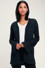 df313fe5b9 Olive + Oak Tayson - Navy Blue Sweater - Cardigan Sweater