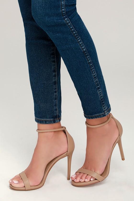 f2bbc676130 Steve Madden Soph Heels - Natural Heels - Ankle Strap Heels