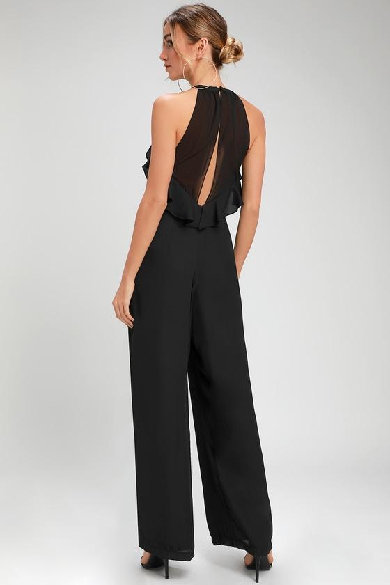 c54679373366 Formal Jumpsuit - Ruffled Jumpsuit - Chic Black Jumpsuit