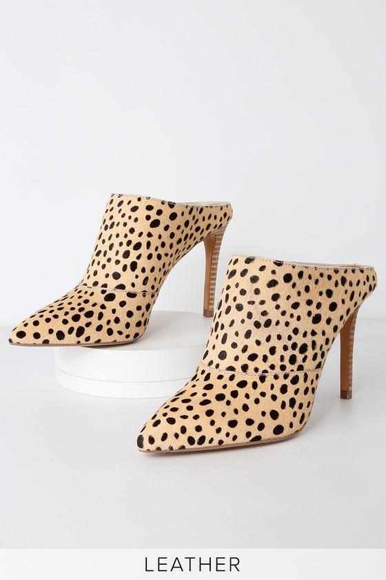 5bd24c33f7a Dolce Vita Cinda - Leopard Print Mules - Pointed Toe Mules