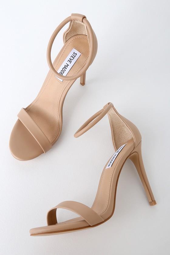 0e5083386 Steve Madden Soph Heels - Natural Heels - Ankle Strap Heels