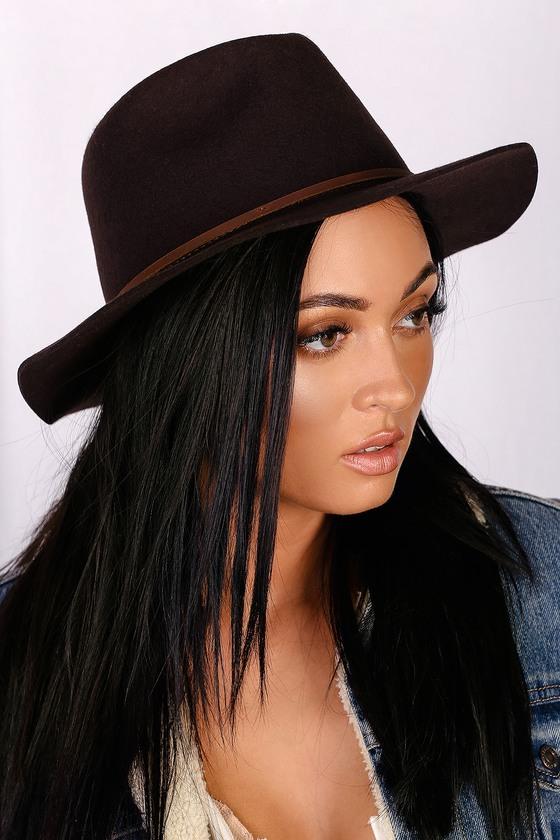 Brixton Wesley Hat - Chestnut Brown Hat - Wool Hat 9529aebb844