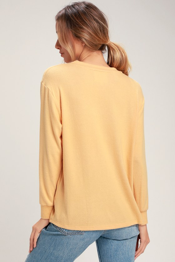 8bfd56a62c1 Cute Mustard Yellow Sweater - Graphic Sweater - Sweater Top