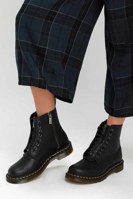 a8d50c80f Dr. Martens 1460 Pascal - Black Boots - Nappa Leather Boots
