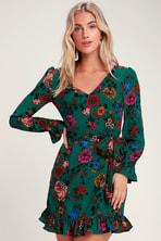9e7ad25776 Jack by BB Dakota West Village - Dark Green Velvet Wrap Dress