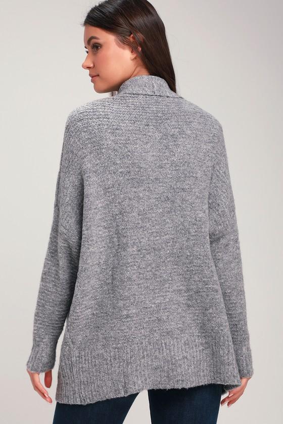 Cute Heather Grey Sweater - Cardigan Sweater - Marled Sweater 20684a5c0