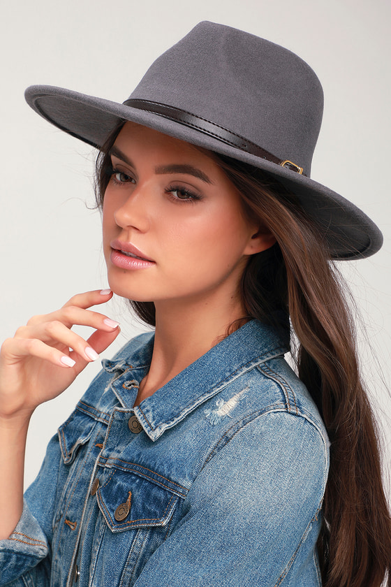 Cute Grey Hat - Wool Hat - Felted Wool Fedora Hat - Hat f57558ed721