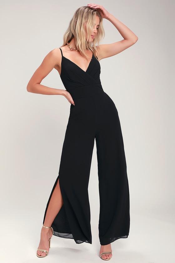60c6ccd90393 Chic Black Jumpsuit - Wide-Leg Jumpsuit - Sleeveless Jumpsuit
