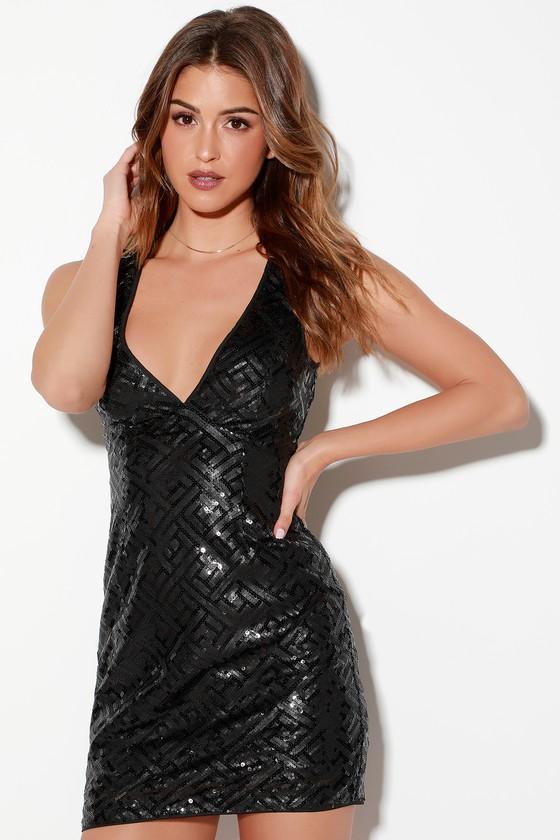 8950b6800516 Sexy Black Dress - LBD - Sequin Dress - Bodycon Dress