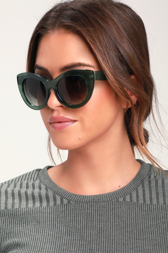 268957d48 Cute Green Sunglasses - Cat-Eye Sunglasses - Round Sunnies