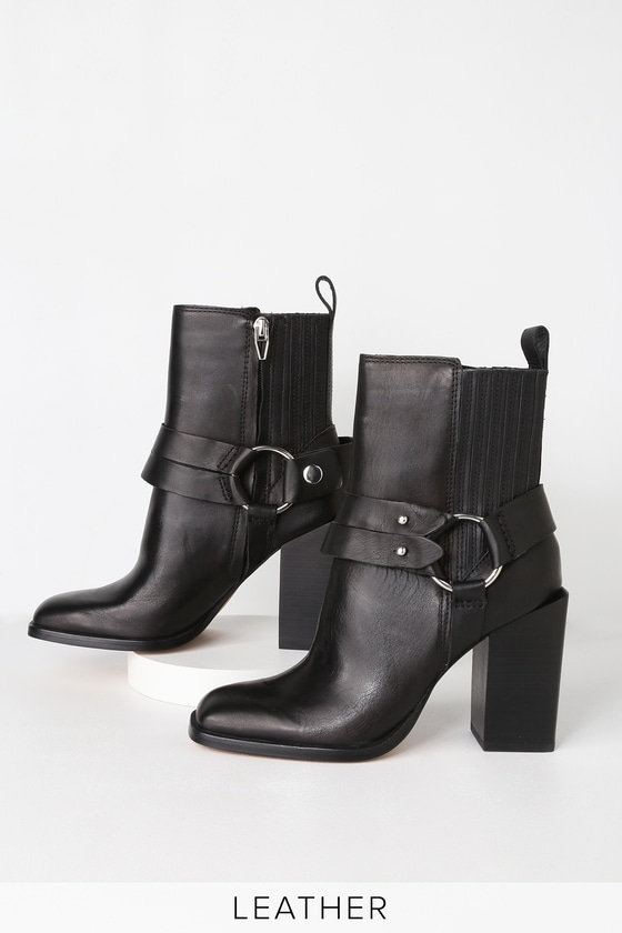 c8ba4cde606 Dolce Vita Isara - Black Boots - Leather Boots - Square Toe Boots