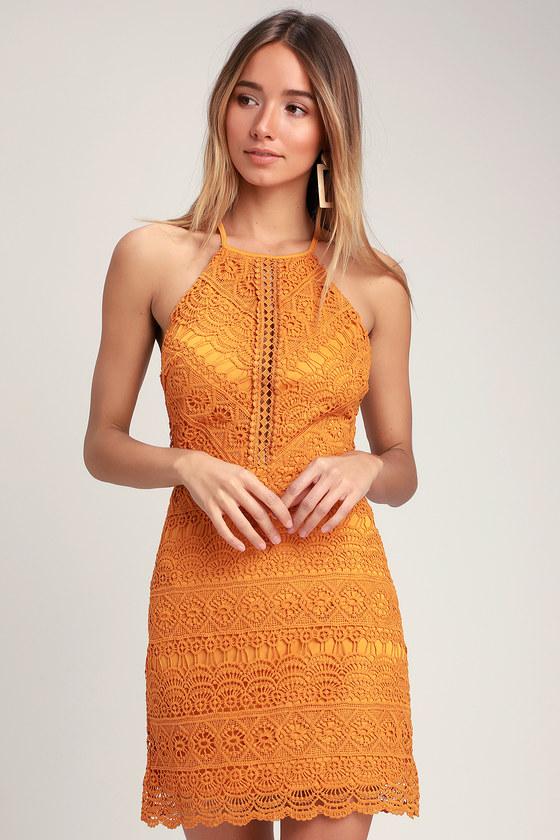 13f48fb0232 Cute Yellow Dress - Crochet Lace Dress - Yellow Lace Dress