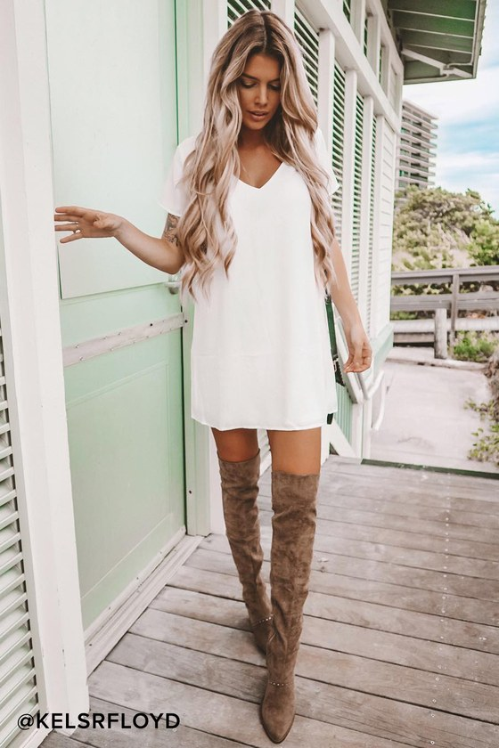 save up to 60% pick up largest selection of Freestyle White Shift Dress