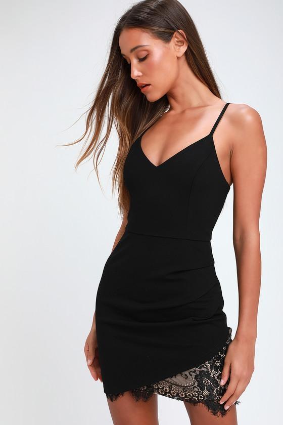Sexy Black Dress Bodycon Dress Mini Dress Lace Dress