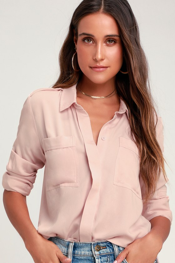 aee3c3f81ce Chic Pursuit Light Blush Pink Long Sleeve Top