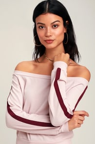 d435c056900 Project Social T Crop Top - Ribbed Crop Top - Rose Sleeve Top