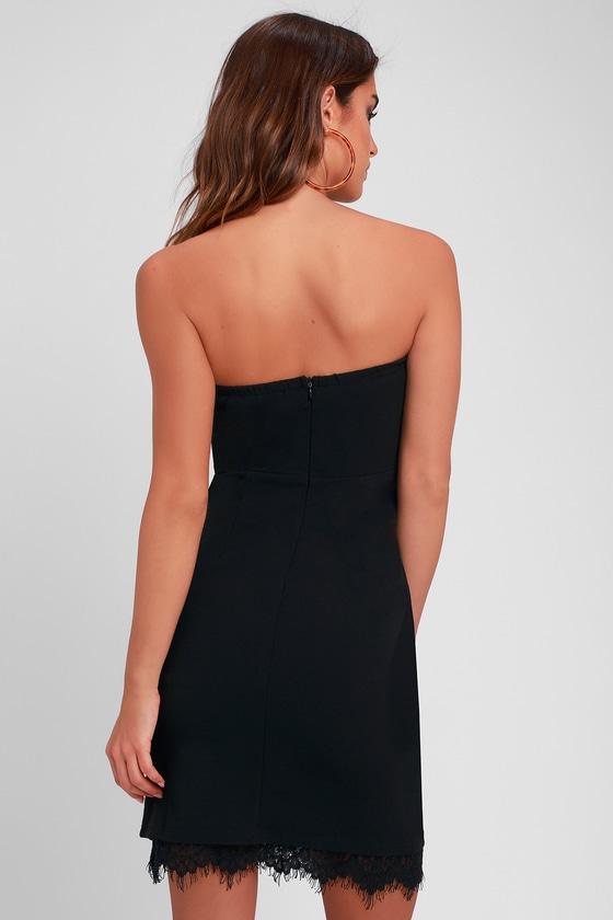 5335c9c4a19 Sexy Black Dress - Strapless Dress - Bodycon Dress - Lace Dress