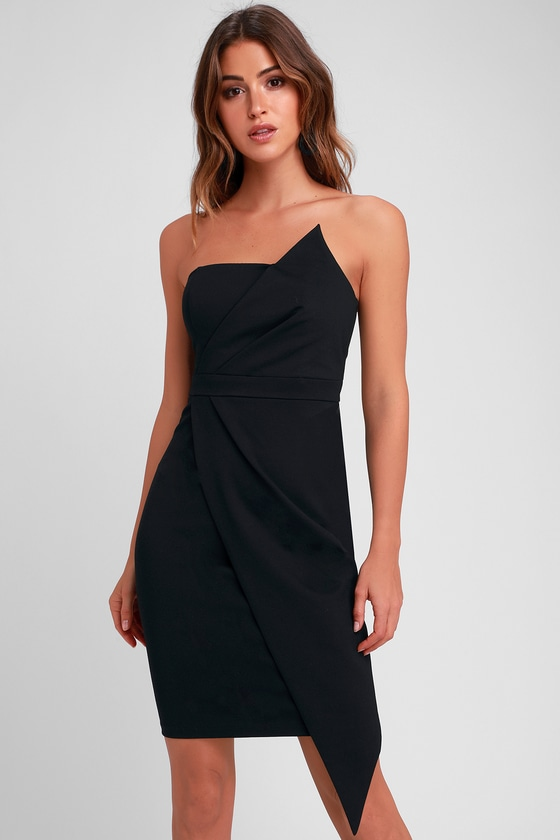 Sexy Black Dress - Strapless Dress - Bodycon Dress - LBD 588a35a17