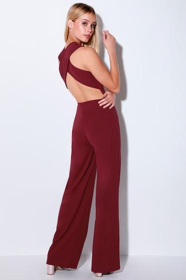 67e417ef882a Fun Plum Purple Jumpsuit - Backless Jumpsuit- Sleeveless Jumpsuit
