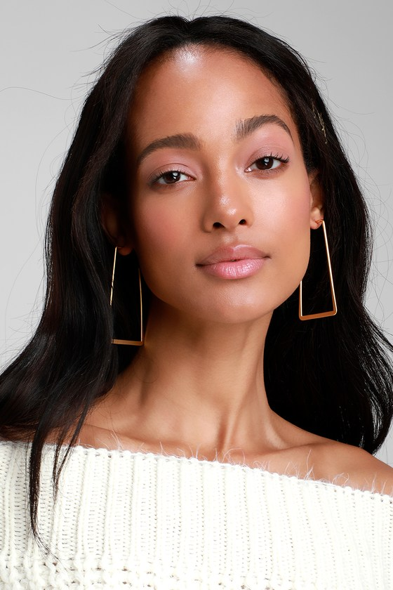 Lamartine Gold Geometric Earrings - Lulus