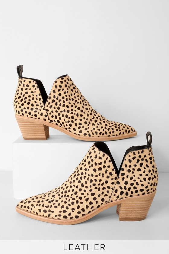 Sonni Leopard Calf Hair Ankle Booties