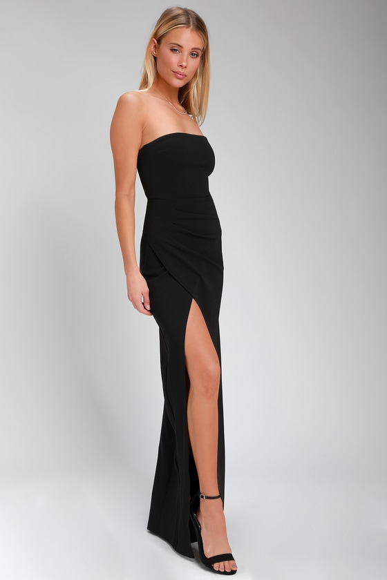 f02b1bd7a8d Sexy Maxi Dress - Black Maxi Dress - Strapless Maxi Dress