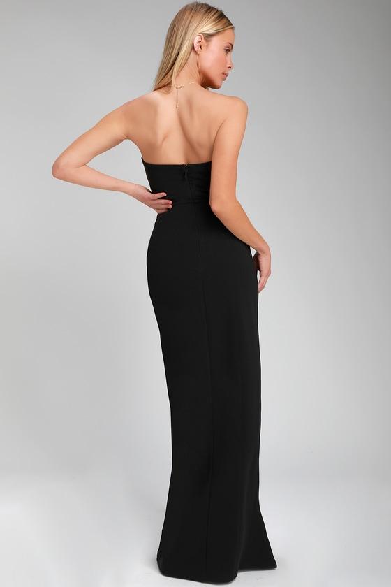 78cf315f99 Sexy Maxi Dress - Black Maxi Dress - Strapless Maxi Dress