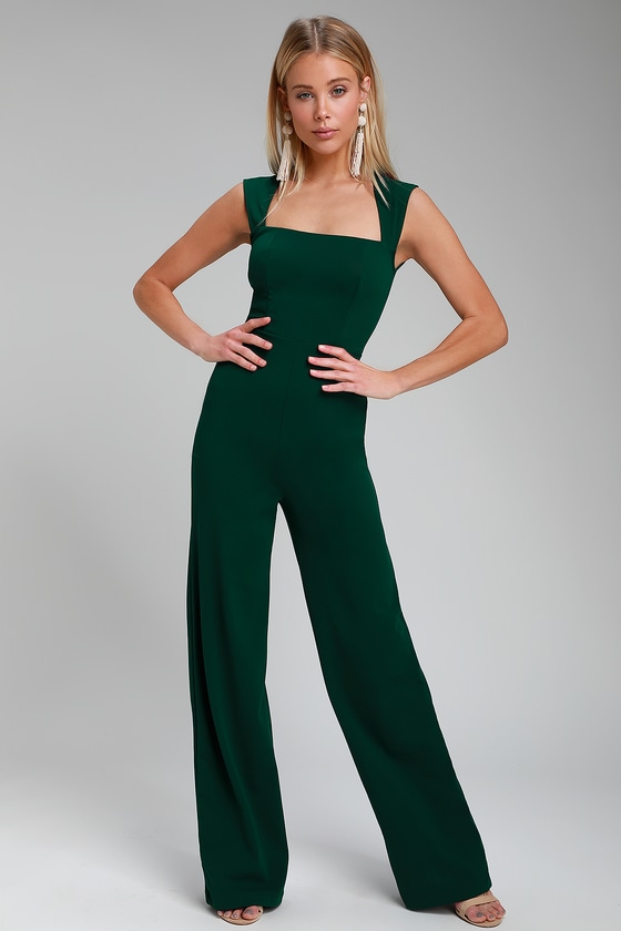 Enticing Endeavors Emerald Green Jumpsuit