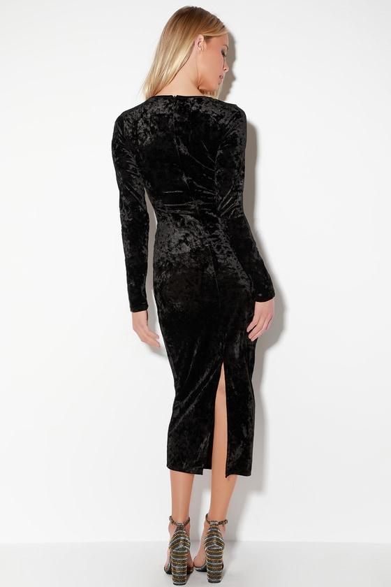 Black velvet long sleeve bodycon dress youtube catalogues plus size