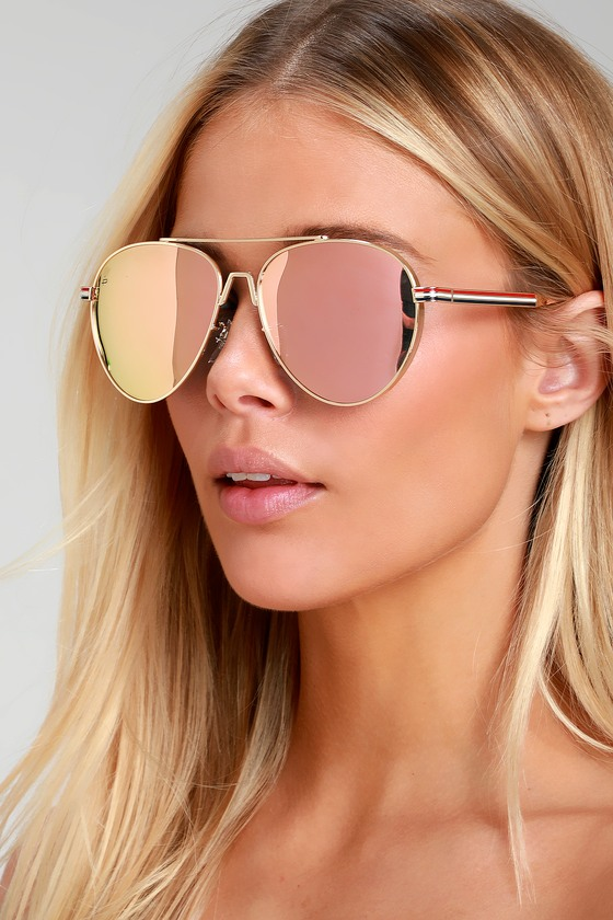 2f4a8bfdc Prive Revaux The G.O.A.T. - Mirrored Aviators - Rose Gold Aviator