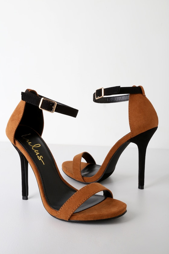 7ac1d4b9f2c Chic Stilettos - Color Block Heels - Black and Brown Heels