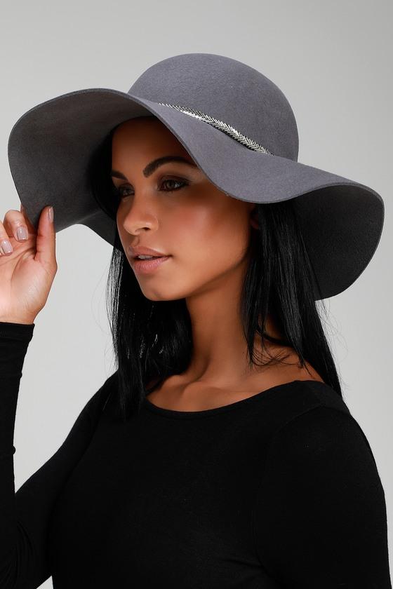 Cute Grey Hat - Floppy Hat - Sun Hat - Beaded Hat dc6076ad8a98