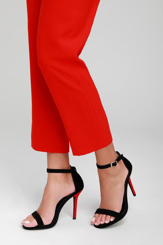 fde52ffb86 Chic Stilettos - Color Block Heels - Black and Red Heels