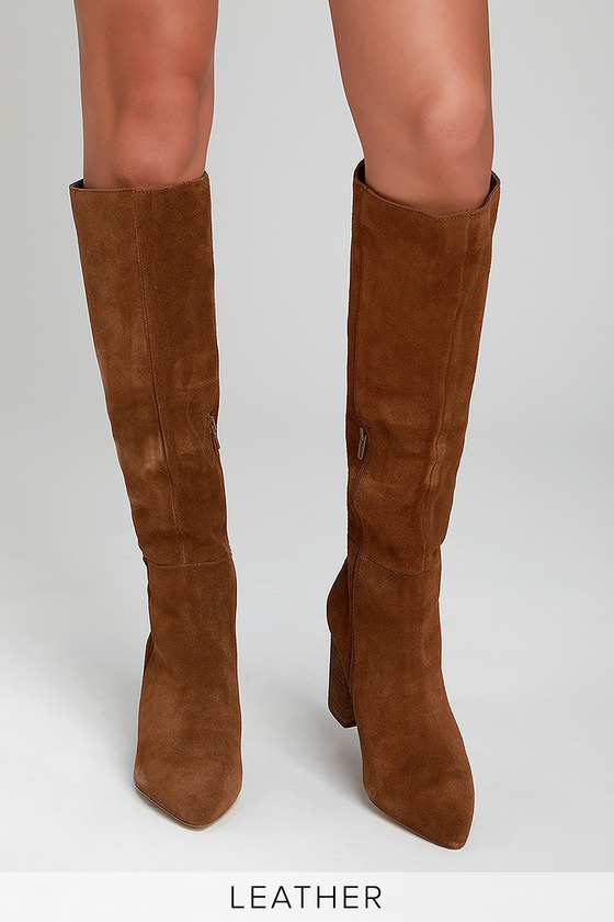 41c16260c34 Steve Madden Serve - Chestnut Boots - Knee-High Suede Boots